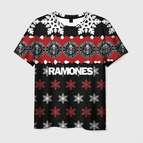 Мужская футболка 3D Праздничный Ramones