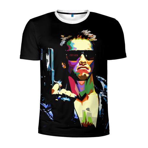 Мужская футболка 3D спортивная Терминатор
