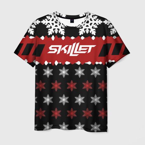 Мужская футболка 3D Праздничный Skillet