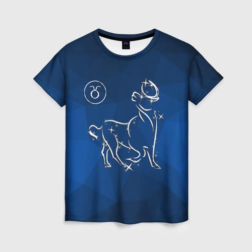 Женская футболка 3D Телец