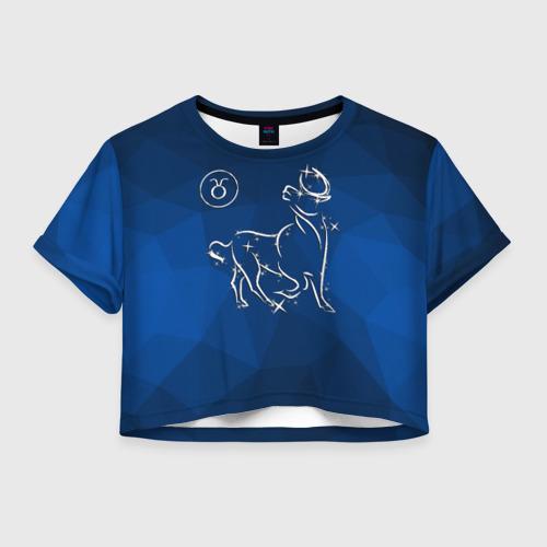 Женская футболка Crop-top 3D Телец