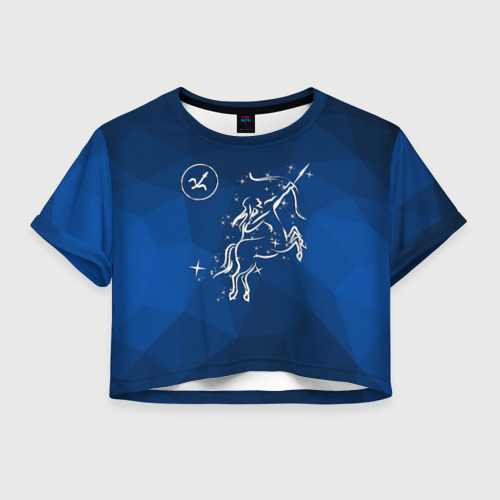 Женская футболка Crop-top 3D Стрелец