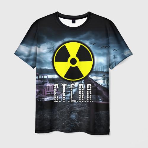 Мужская футболка 3D S.T.A.L.K.E.R. - С.Т.Ё.П.А.