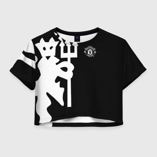 Женская футболка Crop-top 3D F.C.M.U 2018 Devil