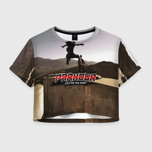 Женская футболка Crop-top 3D parkour