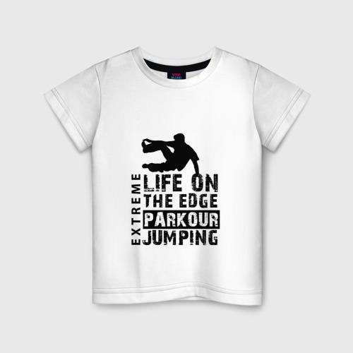 Детская футболка хлопок parkour