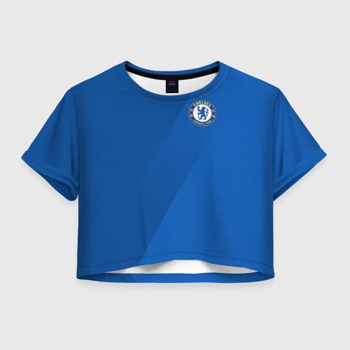 Женская футболка Crop-top 3D Chelsea  2018 Элитная форма