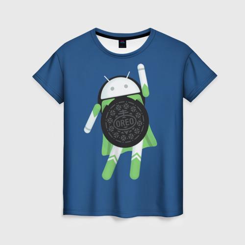 Женская футболка 3D Android Oreo