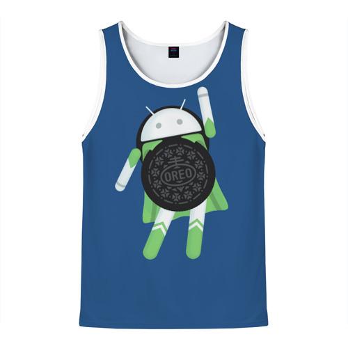 Мужская майка 3D Android Oreo
