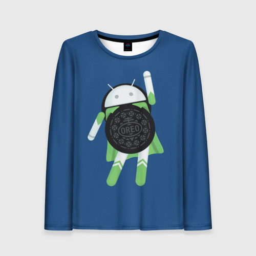 Женский лонгслив 3D Android Oreo