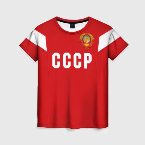 Женская футболка 3D Сборная СССР 1988
