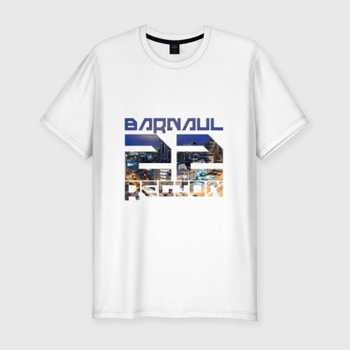 Мужская футболка хлопок Slim Barnaul 22 region