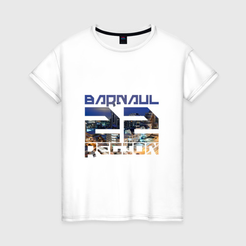 Женская футболка хлопок Barnaul 22 region