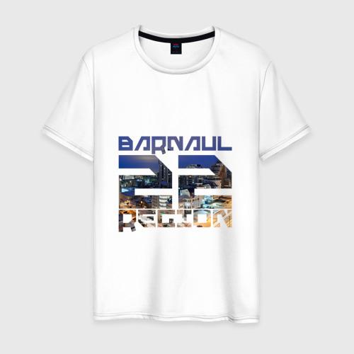 Мужская футболка хлопок Barnaul 22 region