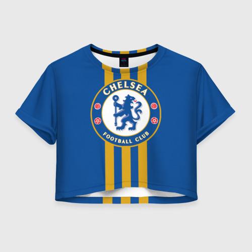 Женская футболка Crop-top 3D Chelsea  2018 Gold Line