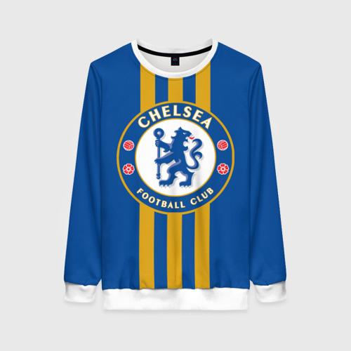 Женский свитшот 3D Chelsea  2018 Gold Line