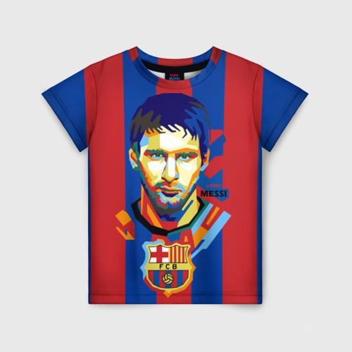 Детская футболка 3D Lionel Messi