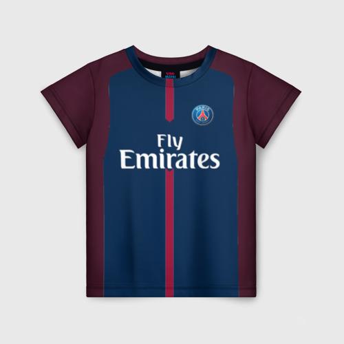 Детская футболка 3D Neymar home PSG 17-18