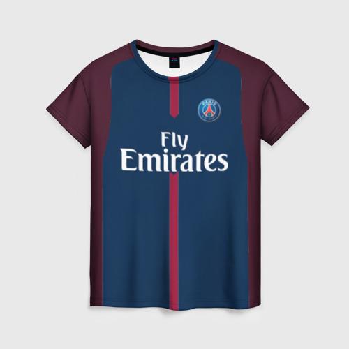 Женская футболка 3D Neymar home PSG 17-18