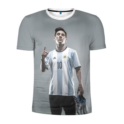 Мужская футболка 3D спортивная Месси победитель