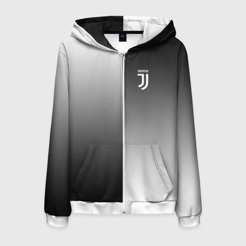 Мужская толстовка 3D на молнии Juventus 2018 Reverse