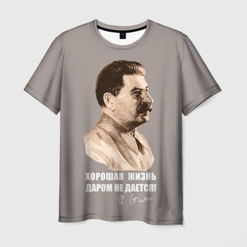 Мужская футболка 3D Сталин