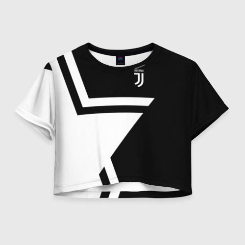 Женская футболка Crop-top 3D Juventus 2018 STAR