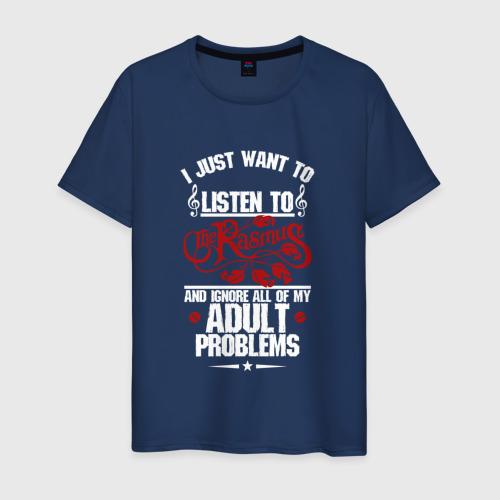 Мужская футболка хлопок Я прост хочу слушать Rasmus