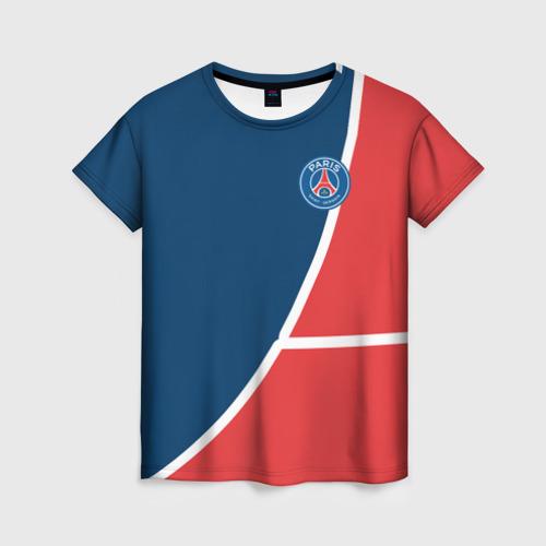Женская футболка 3D PSG LOGO
