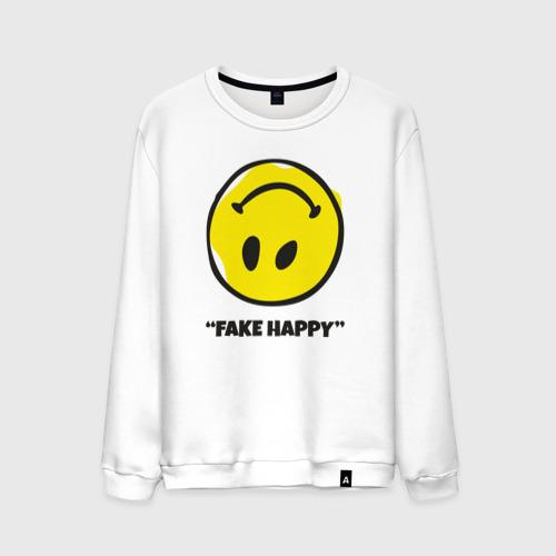 Мужской свитшот хлопок Fake Happy