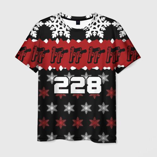 Мужская футболка 3D Праздничный 228