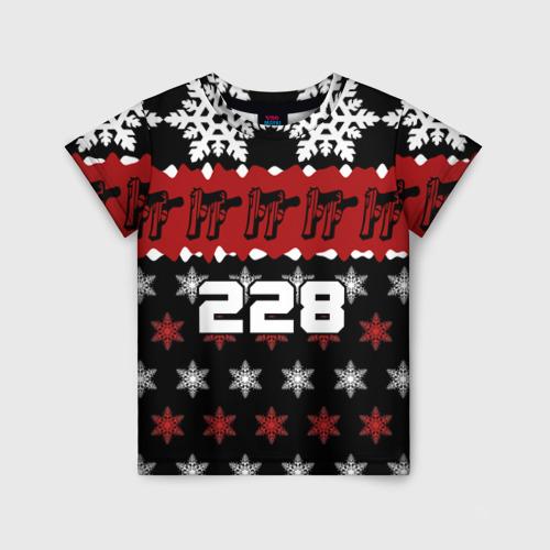 Детская футболка 3D Праздничный 228