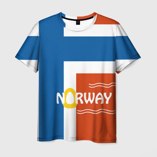 Мужская футболка 3D Норвегия