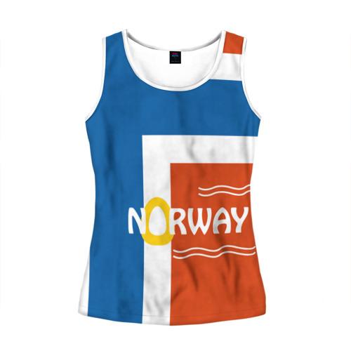 Женская майка 3D Норвегия