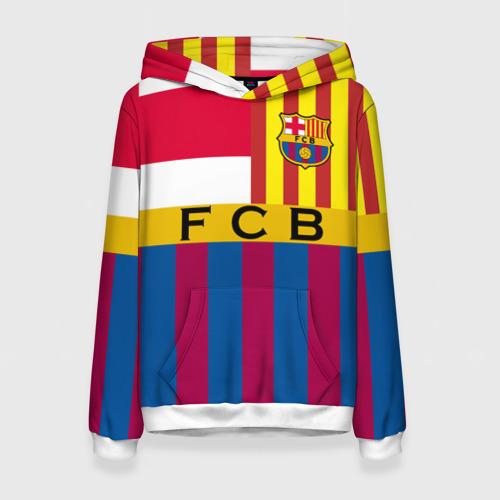Женская толстовка 3D FC Barcelona