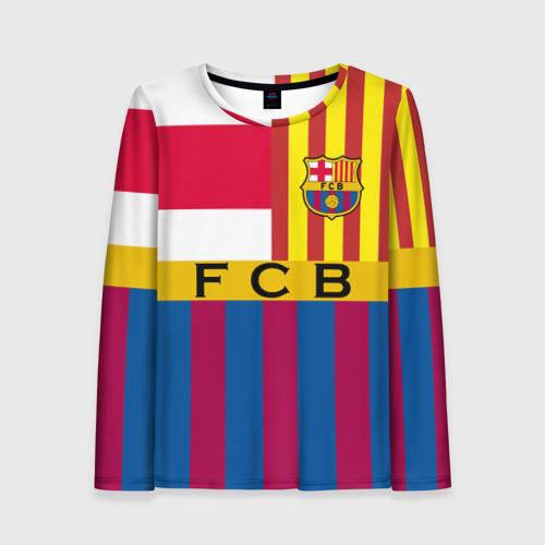 Женский лонгслив 3D FC Barcelona