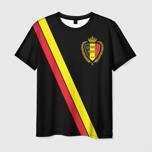 Мужская футболка 3D Бельгия, форма