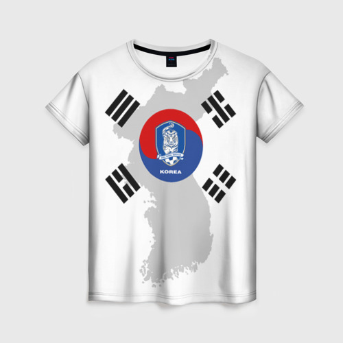 Женская футболка 3D Республика Корея, форма