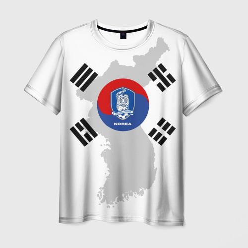 Мужская футболка 3D Республика Корея, форма