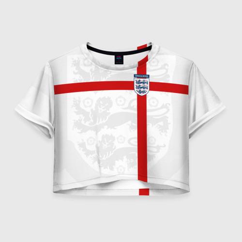 Женская футболка Crop-top 3D Англия, форма