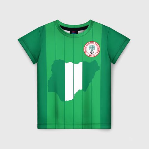 Детская футболка 3D Нигерия, форма