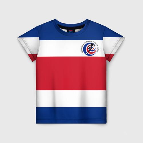 Детская футболка 3D Коста-Рика, форма