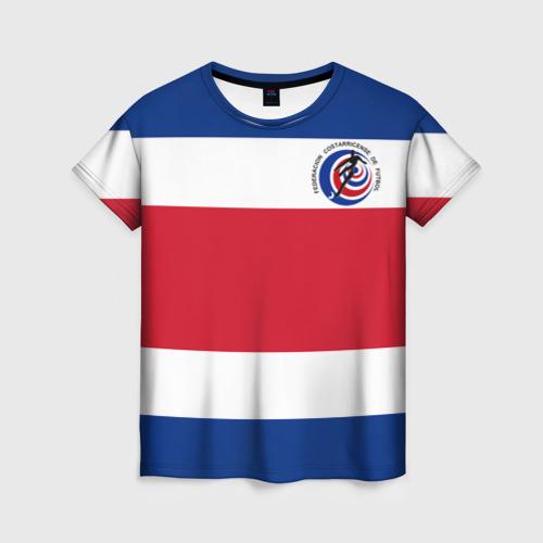 Женская футболка 3D Коста-Рика, форма