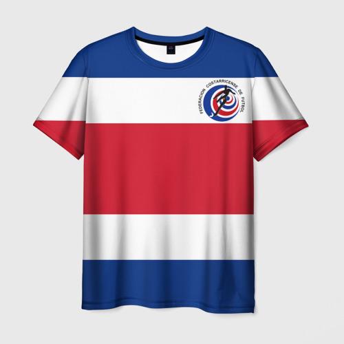 Мужская футболка 3D Коста-Рика, форма