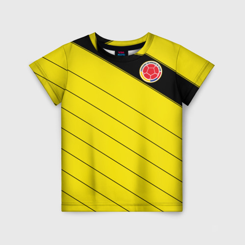 Детская футболка 3D Колумбия, форма