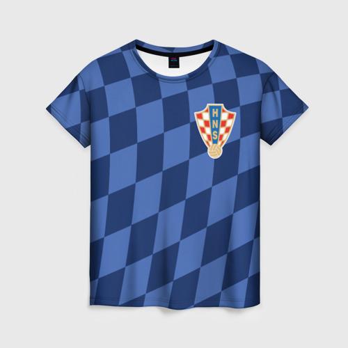 Женская футболка 3D Хорватия, форма