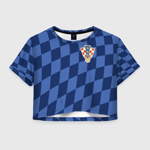 Женская футболка Crop-top 3D Хорватия, форма
