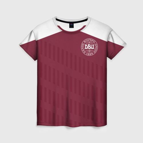 Женская футболка 3D Дания, форма