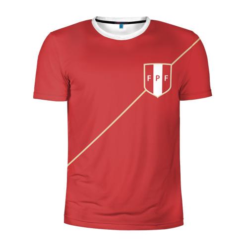Мужская футболка 3D спортивная Перу, форма