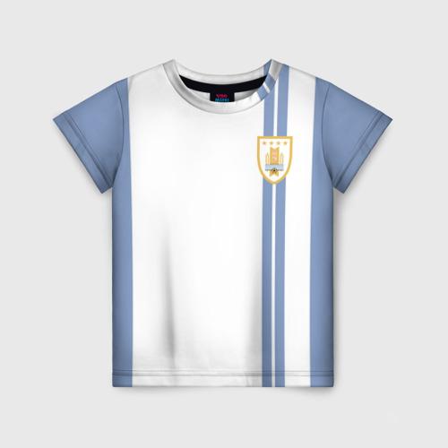 Детская футболка 3D Уругвай, форма